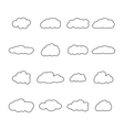 Set of icons of clouds vector image vector image