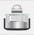 silver multicooker banner vector image