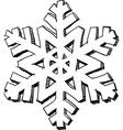 Snowflake sketch vector image vector image
