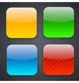 Square striped app template icons vector | Price: 1 Credit (USD $1)