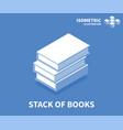stack of books icon isometric template vector image