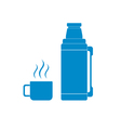 Thermos container icon vector image vector image