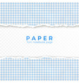torn edge blue squared paper torn piece of vector image vector image