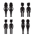 twins together silhouette set vector image