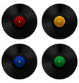 vinyl record set vector image