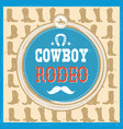 wild west card with cowboy boots decoration and vector image vector image