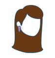 woman face icon vector image vector image
