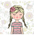 young beautiful cute sweet girl vector image
