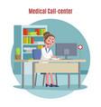 emergency call center concept vector image