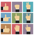 Flat Hands vector image