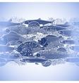 Graphic ocean fish border vector image