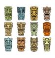 Tribal masks of idols and demons vector image