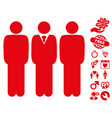 managers icon with dating bonus vector image