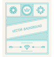 simple and geometric graphic design template vector image