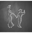 flamenco dancers icon vector image