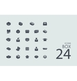 Set of box icons vector image