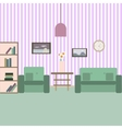 Living room with furniture Vektor flat style vector image