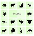 14 mammal icons vector image vector image