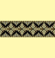 3d gold decorative seamless border pattern vector image