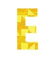Abstract color alphabet E vector image