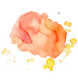 abstract isolated watercolor stain vector image