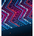 Abstract shiny background with zigzag ornament vector image vector image