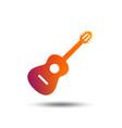 acoustic guitar sign icon music symbol