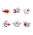 aircraft from different angles vector image vector image