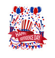 america s independence day a ribbon with the vector image