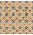 American vintage seamless pattern vector image