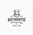authentic cylinder hat abstract sign vector image