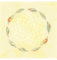 Background with tribal feather circle vector image vector image