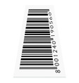 barcode on white background vector image vector image