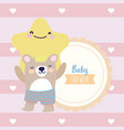 bashower cute bear and star hearts decoration vector image