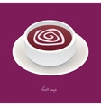 beet soup vector image