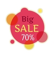 Big Sale Round Banner Isolated 70 Percent vector image