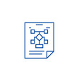 business organizationflow chart line icon concept vector image