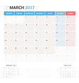 Calendar Planner for March 2017 vector image