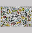 cartoon set electric cars theme items objects vector image vector image