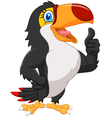 Cartoon toucan gives thumb up vector image vector image