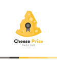 cheese prise logo restaurant logo food and vector image vector image