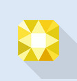 citrine icon flat style vector image