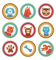 collection with funny cats and dogs vector image vector image