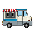 color image cartoon food mobile truck vector image