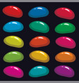 colorful fruit gelatin jelly beans on black vector image vector image