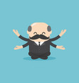 concept cartoon boss businessmen meditation vector image