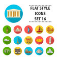 countries set icons in flat style big collection vector image vector image