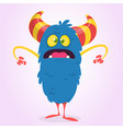 cute scared or surprised cartoon bigfoot monster vector image vector image