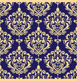 damask seamless pattern victoraian textile vector image vector image