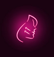facelift neon icon elements antiaging set vector image vector image